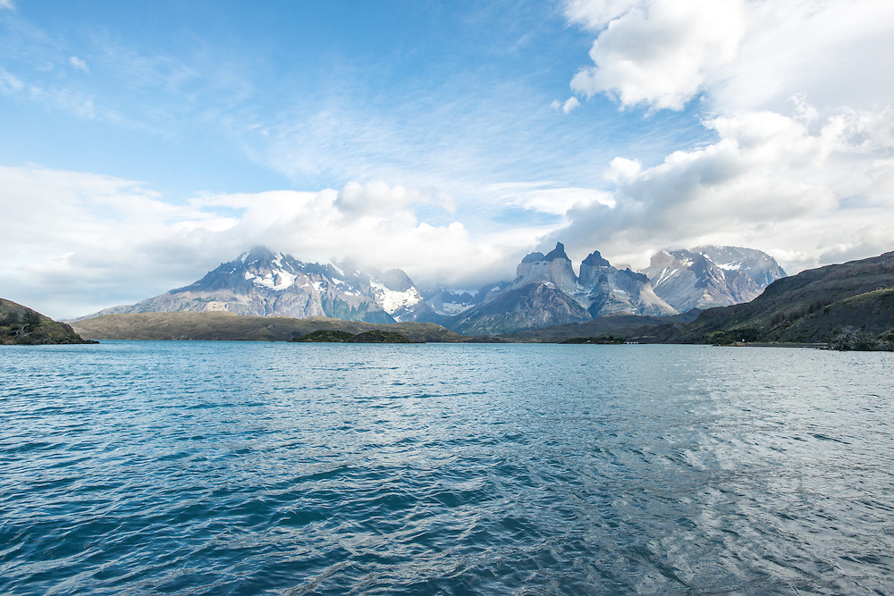 Lake View of Mountains, Torres del Paine National Park Chile