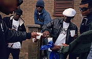 G.B. ENGLAND. Members of GMQ crew in Kilburn, north London. 2006.