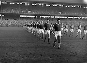 23/10/1960<br /> 10/23/1960<br /> 23 October 1960<br /> Oireachtas Final: Cork v Tipperary at Croke Park, Dublin.<br /> Cork team (left) and Tipperary team (right).