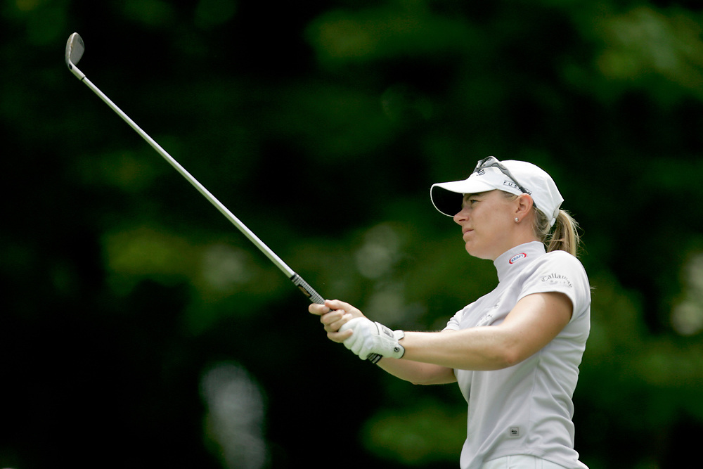 HAVRE DE GRACE , MARYLAND - JUNE 12, 2005<br /> Annika SORENSTAM during the fourth round of the 2005  McDonald's LPGA Championship held at Bulle Rock golf course in Havre De Grace, Maryland. Sorenstam shot a 11 under par to win the tournament.