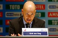 04-02-2016 VOETBAL:PSV-UTRECHT:BEKER:EINDHOVEN<br /> Trainer/Coach Erik ten Hag van FC Utrecht tijdens de persconferentie <br /> <br /> Foto: Geert van Erven