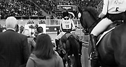 Riders head into the ring for the victory ceremony after the Horseware Indoor Eventing Challenge at The Royal Horse Show in Toronto, Ontario. MICHAEL JUNG won the event beating 9 other riders.