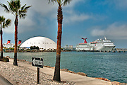 Long Beach, Carnival Cruises, Paradise, Spruce Goose Hanger, Queen Mary, Panorama
