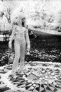 Model In Central Park, NYC, Infrared Film