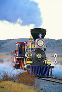 350307-1023 ~ Copyright: George H. H. Huey ~ Working replica of locomotive 'Jupiter', at Golden Spike National Historic Site, Utah.