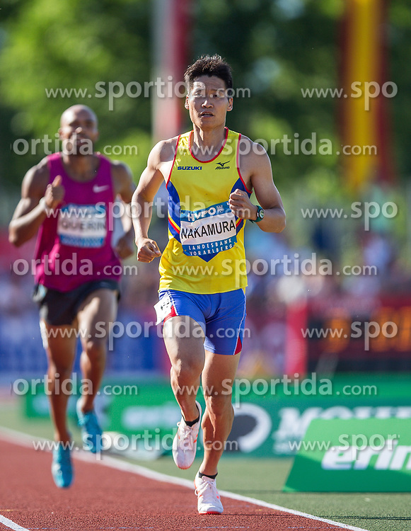 28.05.2017, Moeslestadion, Goetzis, AUT, 43. Hypo Meeting Goetzis, Zehnkampf Herren, im Bild Akihiko Nakamura (JPN) beim 1500m Lauf // Akihiko Nakamura of Japan during the 43rd Hypo Athletics Meeting at the Moeslestadion in Goetzis, Austria on 2017/05/28. EXPA Pictures © 2017, PhotoCredit: EXPA/ Peter Rinderer