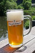 Neufelden, Austria. Genießerhotel Mühltalhof.<br /> A Neufeldner Bio Brewery draft beer.