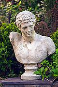Roman bust in private yard, Atlanta, GA