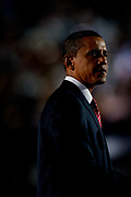 The DNC Convention in Denver. On the last day, Presidential Hopeful Barack Obama holds his acceptance speach at the Invesco Arena