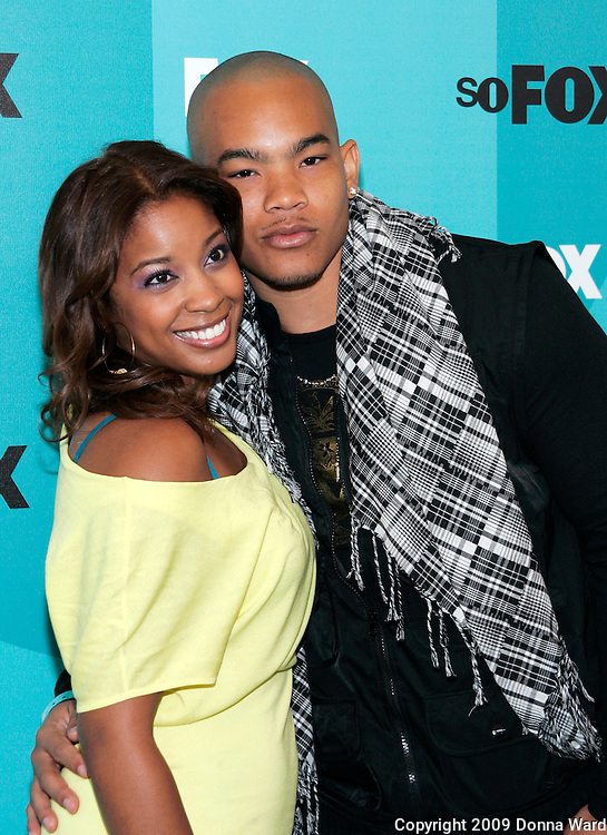 Actress Regan Gomez and husband Dwayne Turrentine pose at the Fox 2009 Programming Presentation Post-Party Arrivals at Wollman Rink in New York City, USA on May 18, 2009.