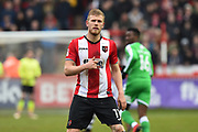 Jayden Stockley (11) of Exeter City during the EFL Sky Bet League 2 match between Exeter City and Swindon Town at St James' Park, Exeter, England on 24 March 2018. Picture by Graham Hunt.