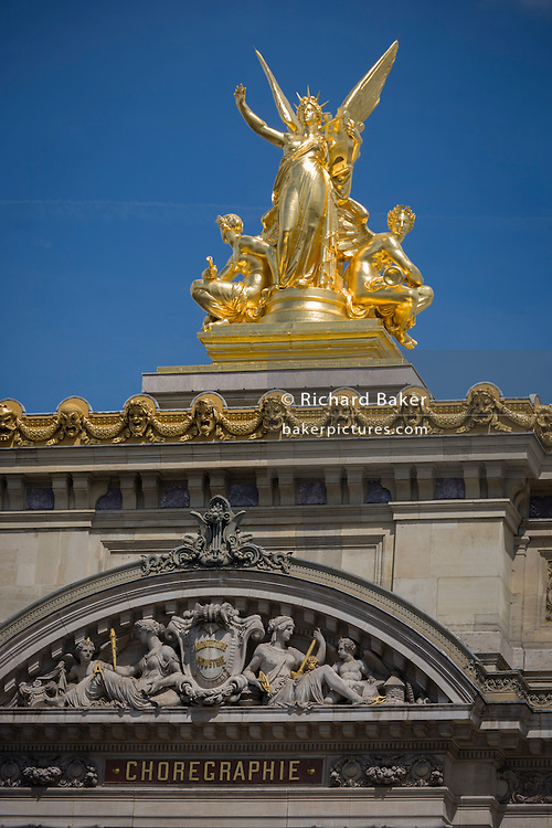 Exterior of the Opera Garnier Paris, France. The Palais Garnier is a 1,979-seat opera house, which was built from 1861 to 1875 for the Paris Opera.