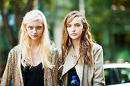 Models Nastya Kusakina and Agata Rudko, After Emporio Armani