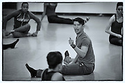 Choreographer Chris Vo with Dallas Black Dance Theatre company on May 7, 2014 at Dallas Black Dance Theatre studio in Dallas, Texas.