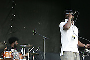 "Black Thought and Ahmir ""?uestlove"" Thompson of The Roots performs during the second day of the 2007 Bonnaroo Music & Arts Festival on June 15, 2007 in Manchester, Tennessee. The four-day music festival features a variety of musical acts, arts and comedians..Photo by Bryan Rinnert."