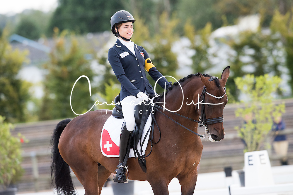 Van Till Celine, (SUI), Amanta<br /> Grade III Team Test<br /> Para-Dressage FEI European Championships Deauville 2015<br /> &copy; Hippo Foto - Jon Stroud<br /> 18/09/15