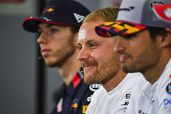 May 9, 2019 - Espagne - Valtteri Bottas, Mercedes AMG F1, Carlos Sainz Jr, McLaren and Pierre Gasly, Red Bull Racing in Press Conference (Credit Image: © Panoramic via ZUMA Press)