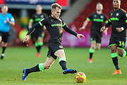 Forest Green Rovers George Williams(11) on the ball during the EFL Sky Bet League 2 match between Cheltenham Town and Forest Green Rovers at Jonny Rocks Stadium, Cheltenham, England on 29 December 2018.