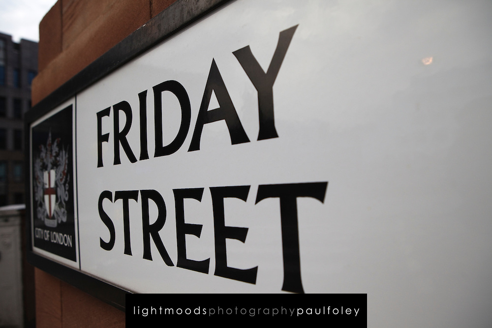 Friday Street,Signs, London, England