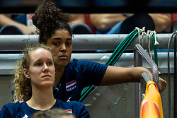 14-10-2018 JPN: World Championship Volleyball Women day 15, Nagoya<br /> China - United States of America 3-2 / Dutch team watch the game between China and USA, Celeste Plak #4 of Netherlands