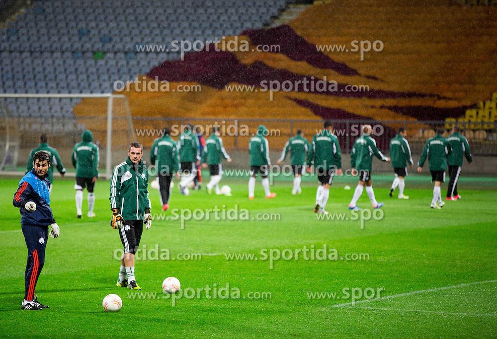 Practice session of Panathinaikos F.C. one day before UEFA Europa league match vs NK Maribor, on September 19, 2012 in Stadium Ljudski vrt, Maribor, Slovenia. (Photo By Vid Ponikvar / Sportida)