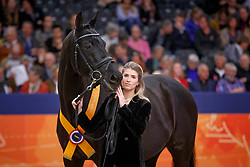Barbancon Morgan, ESP, Painted Black<br /> KWPN Stallionshow - 's Hertogenbosch 2018<br /> © Hippo Foto - Dirk Caremans<br /> 02/02/2018