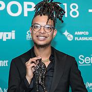 NLD/Amsterdam/20180213 - Edison Pop Awards 2018, Ronnie Flex wint twee Edison's