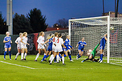NORMAL, IL - October 17:  Hannah Sullivan during an NCAA Missouri Valley Conference (MVC)  women's soccer match between the Indiana State Sycamores and the Illinois State Redbirds October 17 2018 on Adelaide Street Field in Normal IL (Photo by Alan Look)