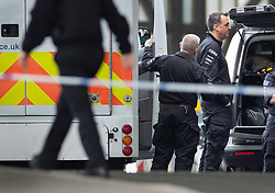 © Licensed to London News Pictures. 05/03/2019. London, UK. Metropolitan police CBRN (Chemical Biological Radiological Nuclear) specialists officers are seen at Waterloo Station as police deal with a suspicious package. The Metropolitan Police counter terrorism command has said that small improvised explosive devices have been found at the station, at Heathrow and London City airport. Photo credit: Peter Macdiarmid/LNP