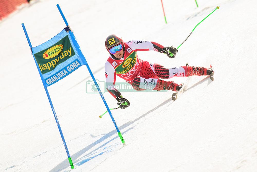 March 9, 2019 - Kranjska Gora, Kranjska Gora, Slovenia - Marcel Hirscher of Austria in action during Audi FIS Ski World Cup Vitranc on March 8, 2019 in Kranjska Gora, Slovenia. (Credit Image: © Rok Rakun/Pacific Press via ZUMA Wire)