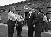 Ballymun Scout Hall.1982.28.07.1982.07.28.1982.28th July 1982.Sean Doherty TD Opens Ballymun Scout Hall ,Albert College Drive, Dublin 9..The Minister is welcomed by Mr Noel Mc Carthy,101st unit scout leader,Chief Scout Mr Joe Lawlor (left) and by Mr Martin Smyth. Mr Smyth is theChairman of the 101stUnit Committee.