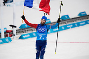 PYEONGCHANG-GUN, SOUTH KOREA - FEBRUARY 20: Martin Fourcade of France celebrates after winning during the Biathlon 2x6km Women + 2x7.5km Men Mixed Relay at Alpensia Biathlon Centre on February 20, 2018 in Pyeongchang-gun, South Korea. Foto: Nils Petter Nilsson/Ombrello                    ***BETALBILD***