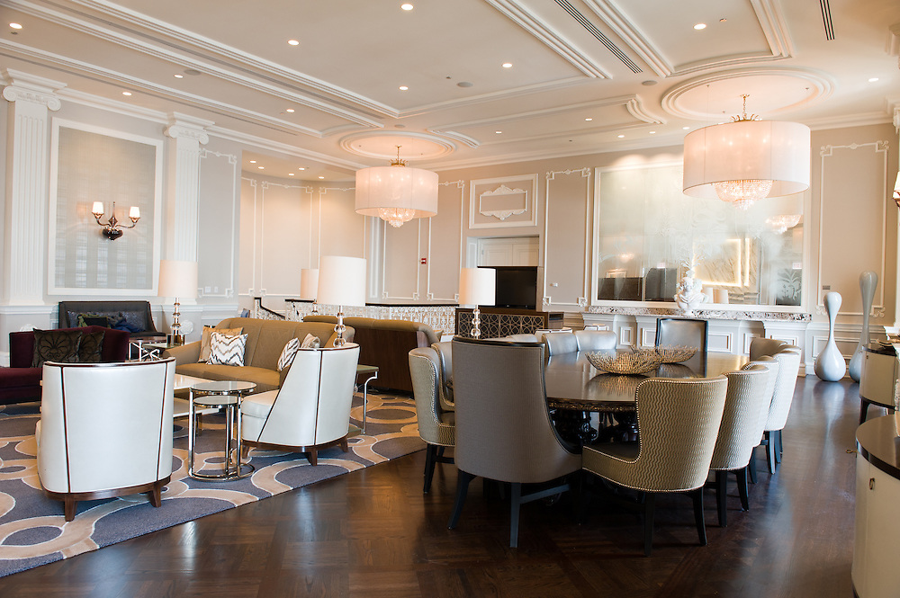 The newly-renovated Conrad Hilton Suite at Hilton Chicago