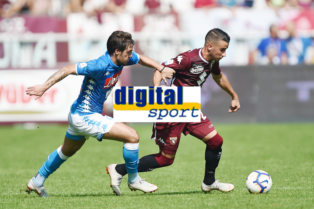 Simone Verdi-Alejandro Berenguer<br /> Torino 23-09-2018 Stadio Olimpico Grande Torino Football Calcio Serie A 2018/2019 Torino - Napoli Foto Image Sport / Insidefoto