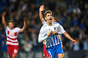 MALAGA, SPAIN - DECEMBER 09:  Diego Llorente of Malaga CF celebrates after scoring a goal wich was later disallowed for offside during La Liga match between Malaga CF and Granada CF at La Rosaleda Stadium December 9, 2016 in Malaga, Spain.  (Photo by Aitor Alcalde Colomer/Getty Images)