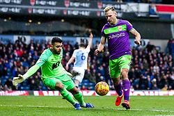 Andreas Weimann of Bristol City takes on David Raya of Blackburn Rovers - Mandatory by-line: Robbie Stephenson/JMP - 09/02/2019 - FOOTBALL - Ewood Park - Blackburn, England - Blackburn Rovers v Bristol City - Sky Bet Championship