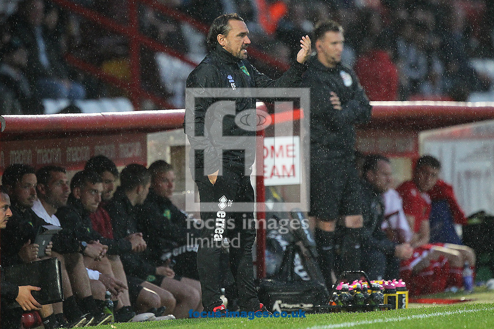 Norwich Head Coach Daniel Farke during the Pre-season Friendly match at the Lamex Stadium, Stevenage<br /> Picture by Paul Chesterton/Focus Images Ltd +44 7904 640267<br /> 11/07/2017]