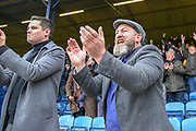 AFC Wimbledon fans clapping during the EFL Sky Bet League 1 match between Southend United and AFC Wimbledon at Roots Hall, Southend, England on 16 March 2019.