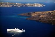 Cruise ship, Island of Santorini, Cyclades Islands, Greece