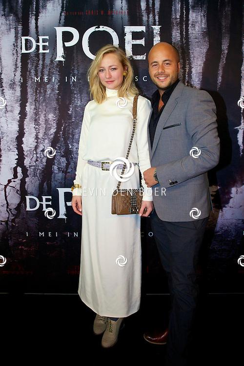 AMSTERDAM - In het EYE is de filmpremière van 'De Poel' is gehouden. Met op de rode loper   Carolien Spoor en haar partner Jon Karthaus. FOTO LEVIN DEN BOER - PERSFOTO.NU