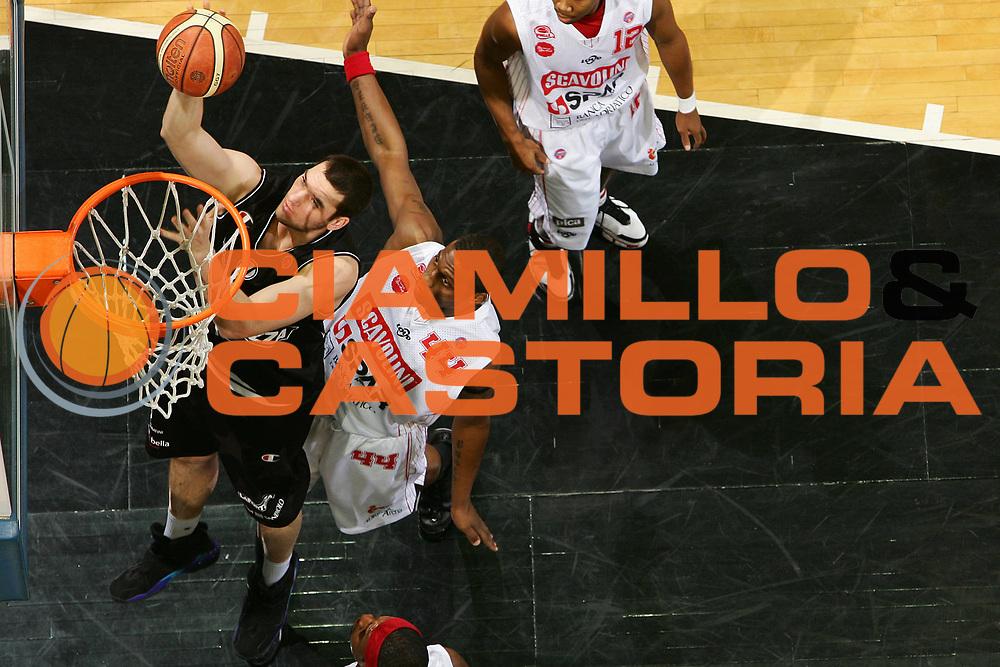 DESCRIZIONE : Bologna Final Eight 2008 Semifinale Scavolini Spar Pesaro La Fortezza Virtus Bologna <br /> GIOCATORE : Andrea Crosariol <br /> SQUADRA : La Fortezza Virtus Bologna <br /> EVENTO : Tim Cup Basket For Life Coppa Italia Final Eight 2008 <br /> GARA : Scavolini Spar Pesaro La Fortezza Virtus Bologna <br /> DATA : 09/02/2008 <br /> CATEGORIA : Tiro Special Super Sincro<br /> SPORT : Pallacanestro <br /> AUTORE : Agenzia Ciamillo-Castoria/S.Silvestri <br /> Galleria : Final Eight 2008 <br /> Fotonotizia : Bologna Final Eight 2008 Semifinale Scavolini Spar Pesaro La Fortezza Virtus Bologna <br /> Predefinita :