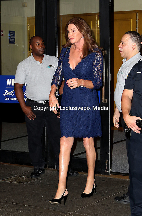 June 30, 2015 - New York, NY, USA <br /> <br /> Caitlyn Jenner was seen arriving to see the Broadway performance of An American In Paris at the Palace Theater <br /> ©Exclusivepix Media
