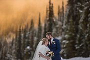 Breanna & Wesley Liebault, wedding at Manning Park in Canada. February 2, 2019.