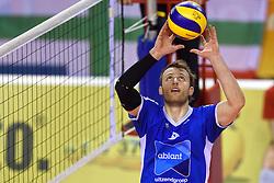 21-02-2016 NED: Bekerfinale Abiant Lycurgus - Landstede Volleybal, Almere<br /> Jay Blankenau #9 of Lycurgus