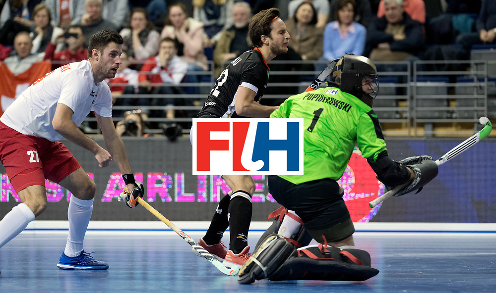 BERLIN - Indoor Hockey World Cup<br /> Men: Poland - Germany<br /> foto: Maco Miltkau.<br /> WORLDSPORTPICS COPYRIGHT FRANK UIJLENBROEK