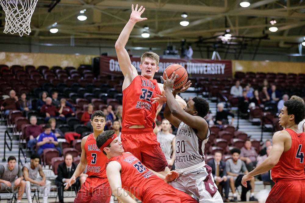 January 19, 2017: The Dallas Baptist University Patriots play against the Oklahoma Christian University Eagles in the Eagles Nest on the campus of Oklahoma Christian University.