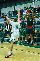 BLOOMINGTON, IL - November 12: Karson Hayes during a college basketball game between the IWU Titans  and the Blackburn Beavers on November 12 2019 at Shirk Center in Bloomington, IL. (Photo by Alan Look)
