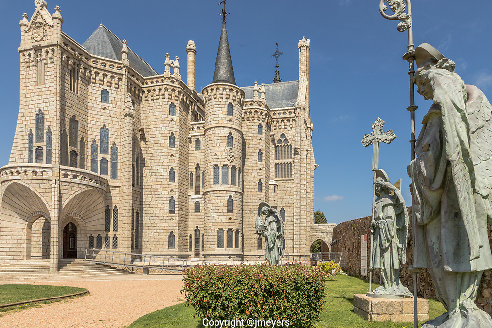 Astorga Spain. Designed in the Calalan Modernisme style by Antoni Gaudi, built between 1889 and 1913.