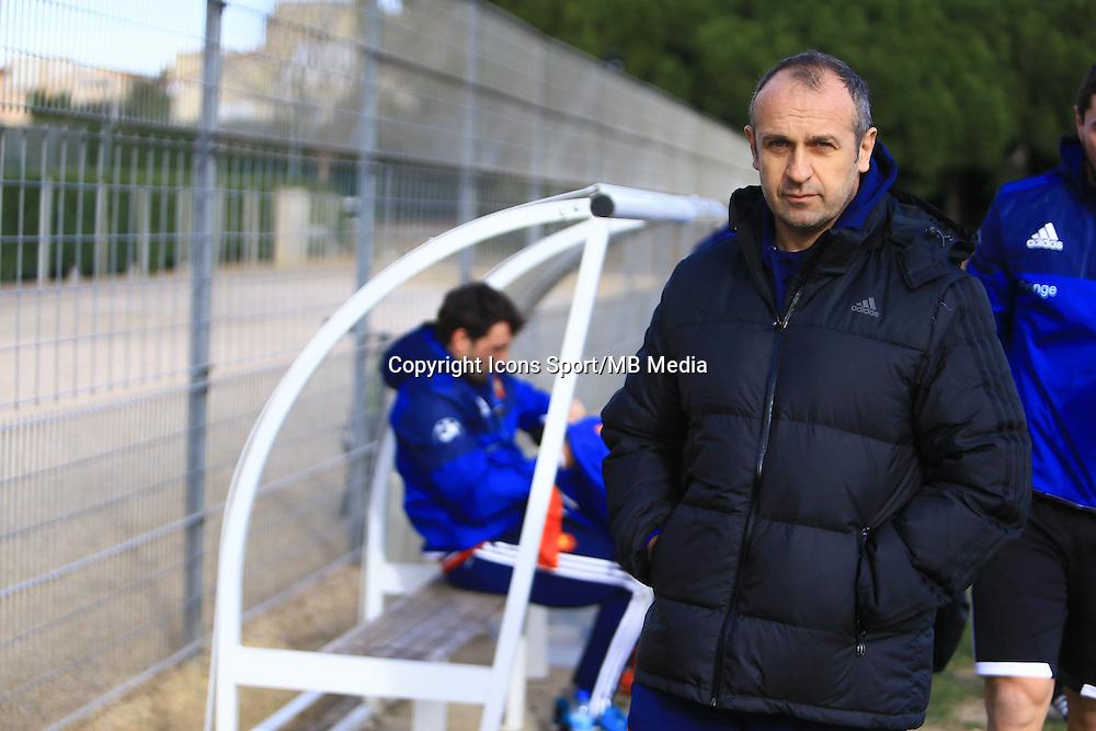 Philippe Saint Andre - 27.01.2015 - Entrainement XV de France - Canet en Rousillon -<br />Photo : Nicolas Guyonnet / Icon Sport