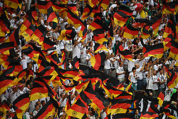 MOSCOW, June 17, 2018  Fans of Germany cheer prior to a group F match between Germany and Mexico at the 2018 FIFA World Cup in Moscow, Russia, June 17, 2018. (Credit Image: © Wang Yuguo/Xinhua via ZUMA Wire)